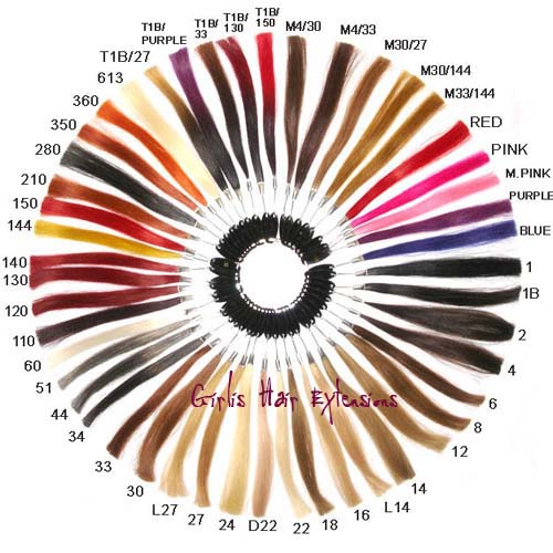 Girlis Hair Extensions Colour Ring Chart