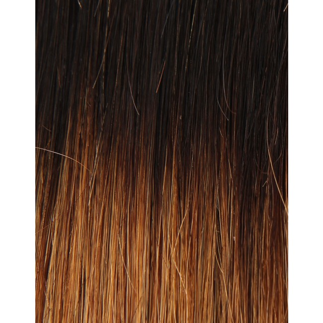 Girlis Luxury Hair Extensions 100% Remy Colour Ring Brunette Ombre ...