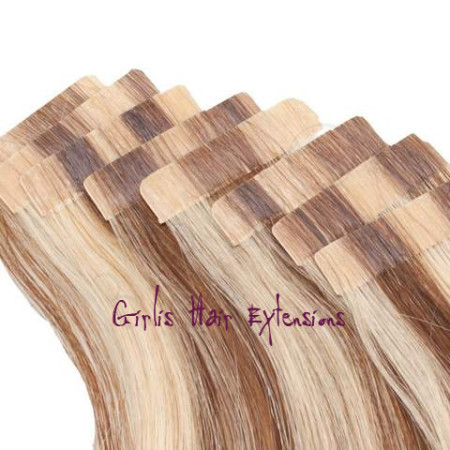 Girlis luxury hair extensions 100g 40pcs 25gs tape in hair remy tape in hair extensions pmusecretfo Image collections