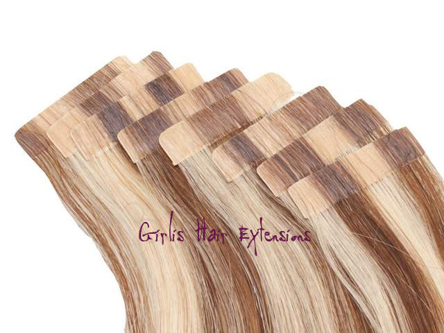 100g 40pcs 25gs Tape In Hair Extension Straight 5a