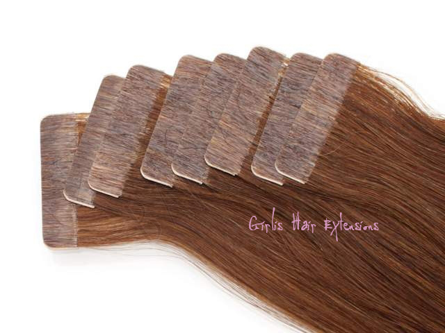 50g 20pcs 25g Tape In Hair Extensions Straight 5a