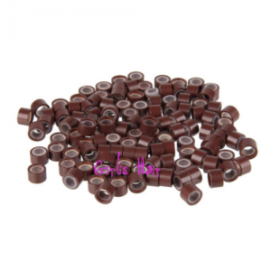 brown-silicone-micro-rings-beads-link-i-tip-hair-extension