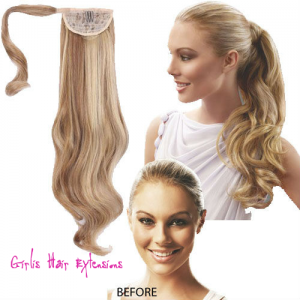 Hair-Extension-Long-Curly-Dark-Blonde-Hair-Piece Ponytail