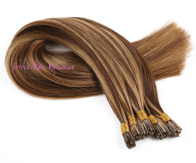 05 Gram Stick Tip I Tip Straight Russian Hair Hair Extensions
